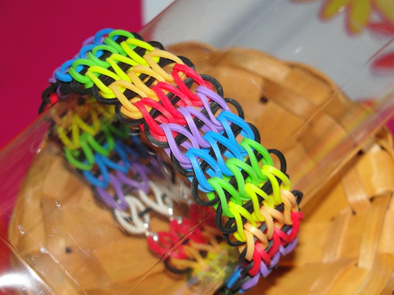 Items similar to Rubber Band Bracelet- - Friendship ... Rainbow Loom Double Triple Single