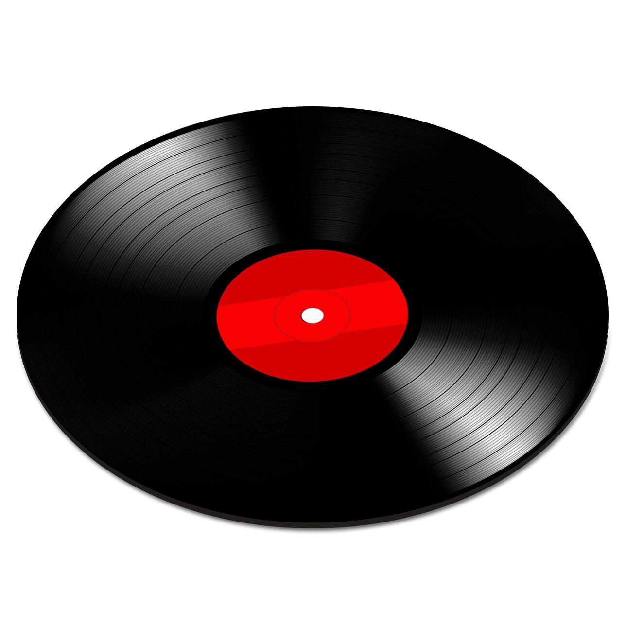 Vinyl Record Red Record Player DJ Decks Music Circle Circular Round PC Computer Mouse Mat Pad