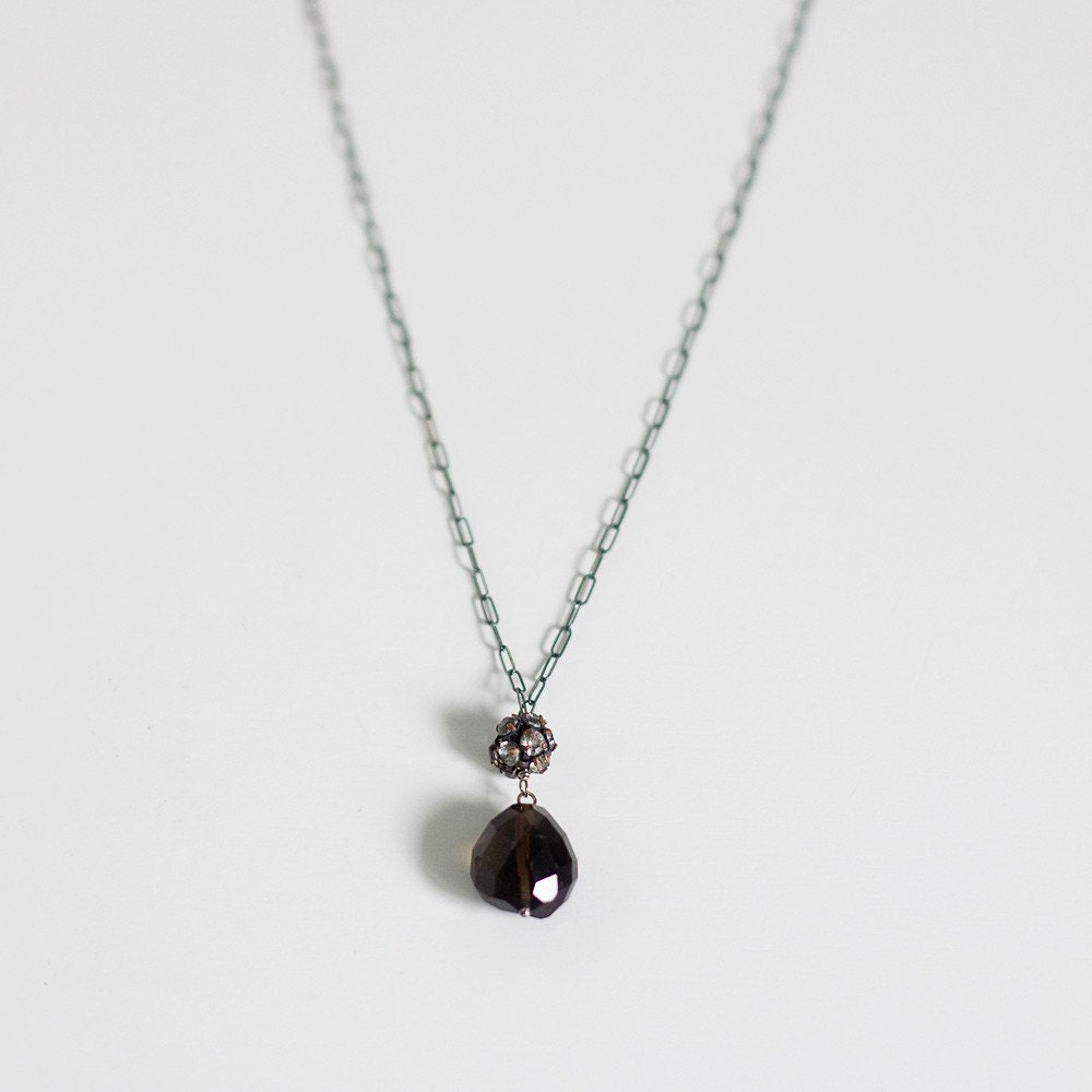 sparkley smoky necklace - SALE ITEM