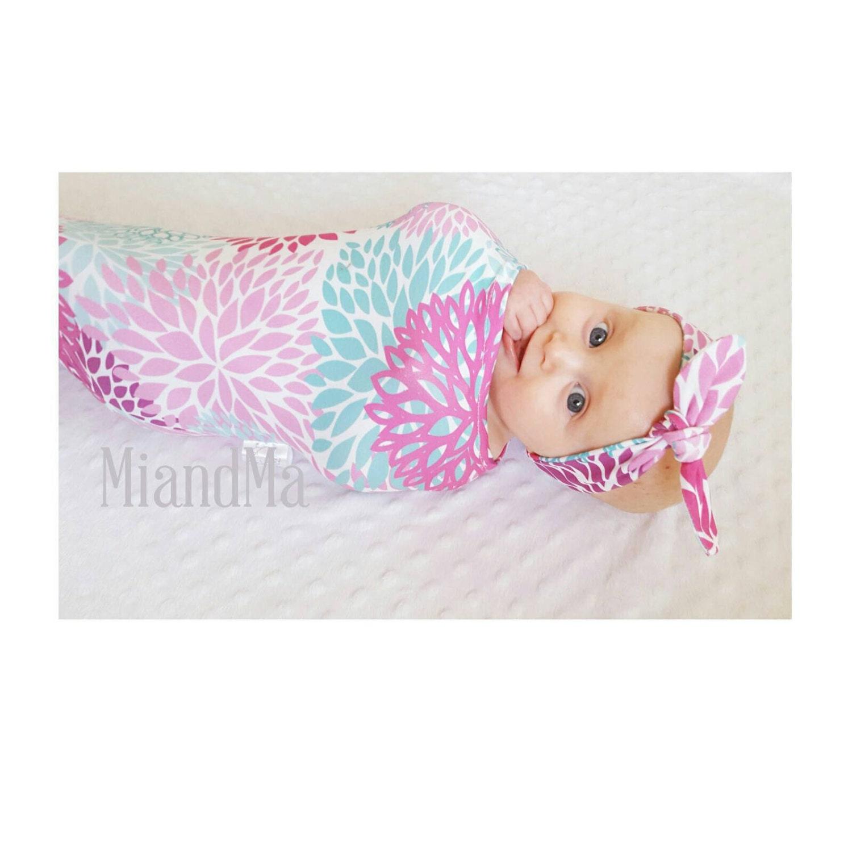 Designer Organic Baby Cosy Sack sleep sack Baby Swaddle baby wrap Cocoon Swaddle Newborn Blanket Headband Topknot headband Beanie