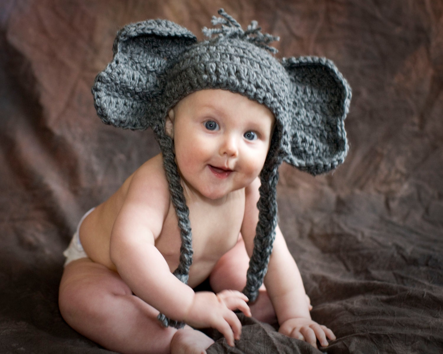 Pattern Elephant Baby Hat Alabama Crochet Quick and by ...