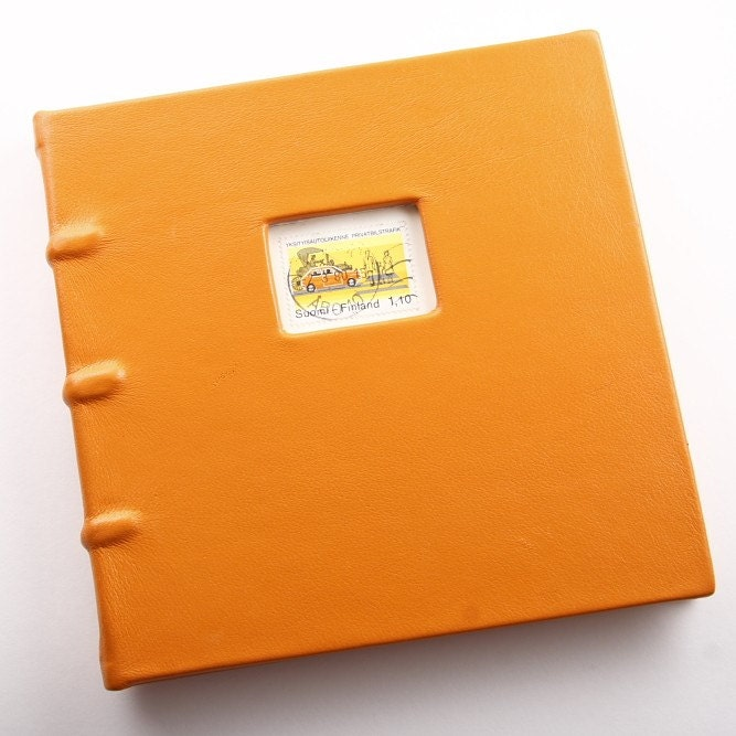 Finland Orange Leather Book