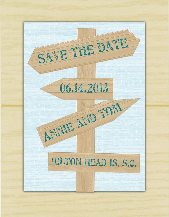 Wood Sign Save the Date (set of 10)