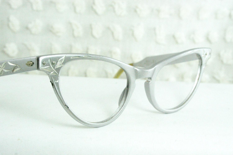 Vintage 50s cat eye glasses 1950s metal eyeglasses by for Art craft eyeglasses vintage