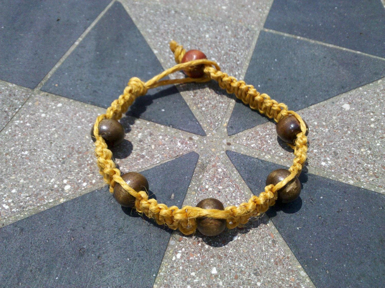 Golden Hemp Bracelet - Earth Friendly