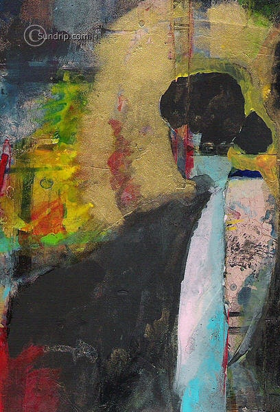 A New Woman abstract figurative painting original wall paper art