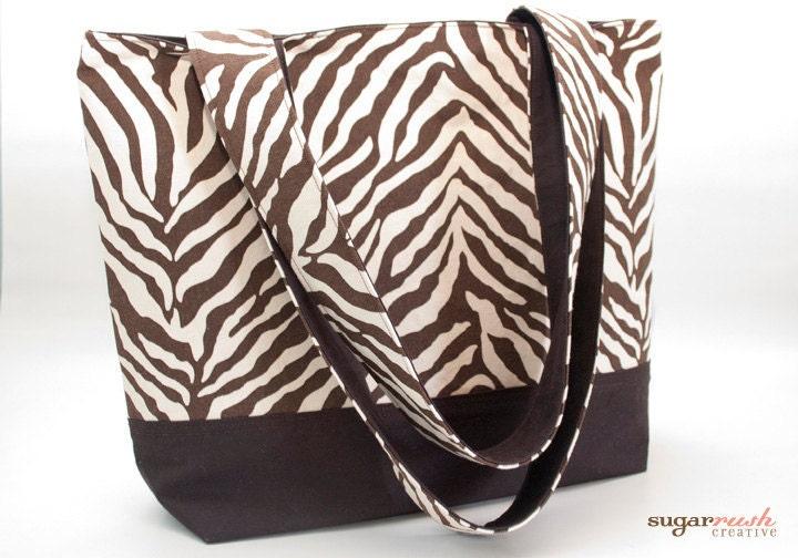 Brown Animal Print Tote Bag - sugarrushcreative