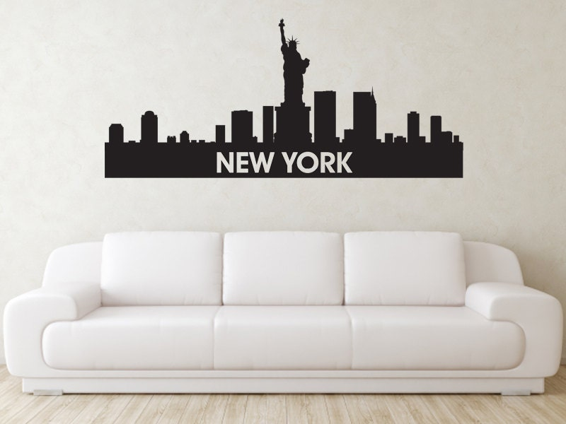 Items Similar To New York Skyline Wall Decal On Etsy