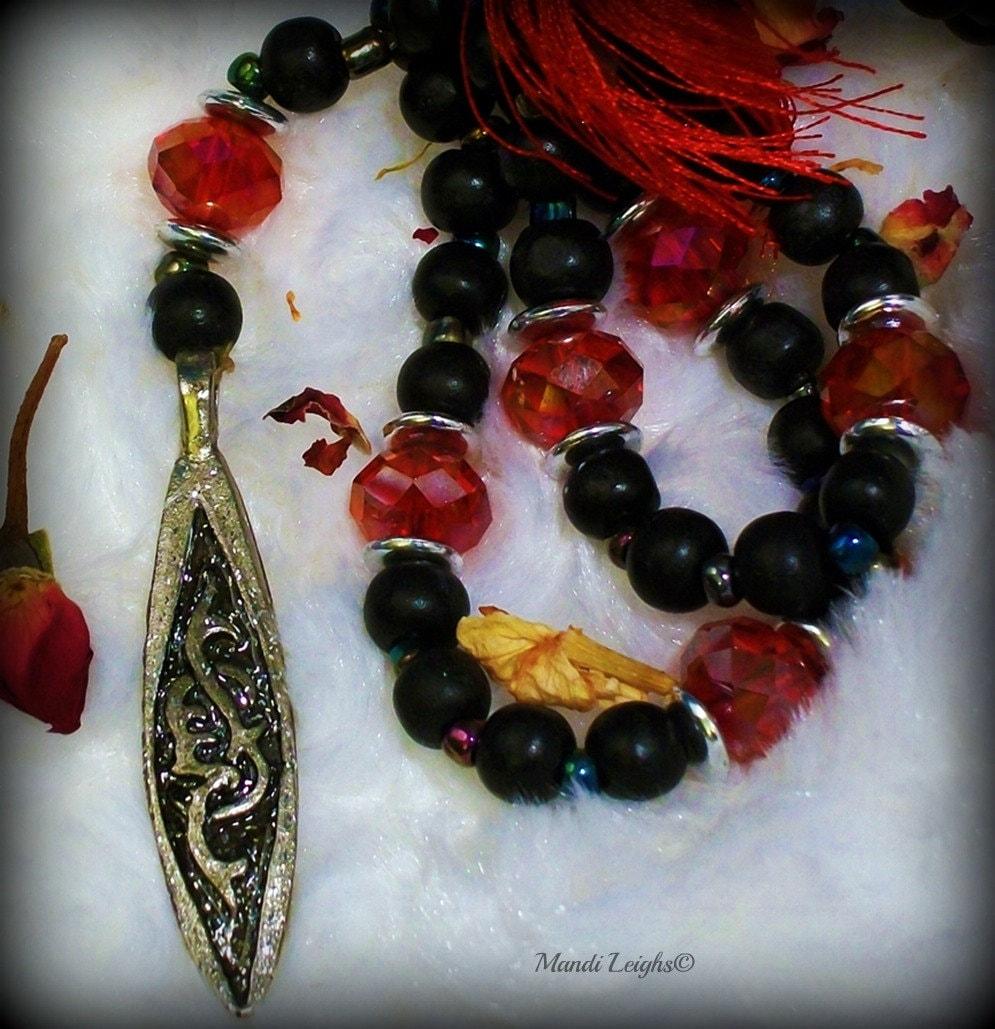 Celtic Token Mala, Prayer Beads Necklace