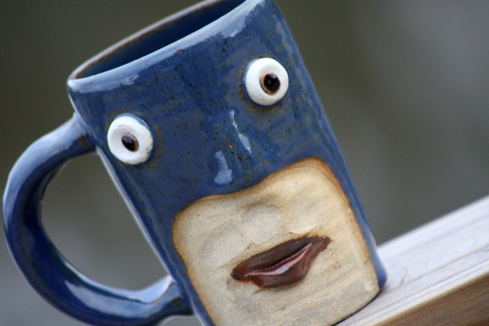 Pottery Cup, Blue Super Hero, Batgirl