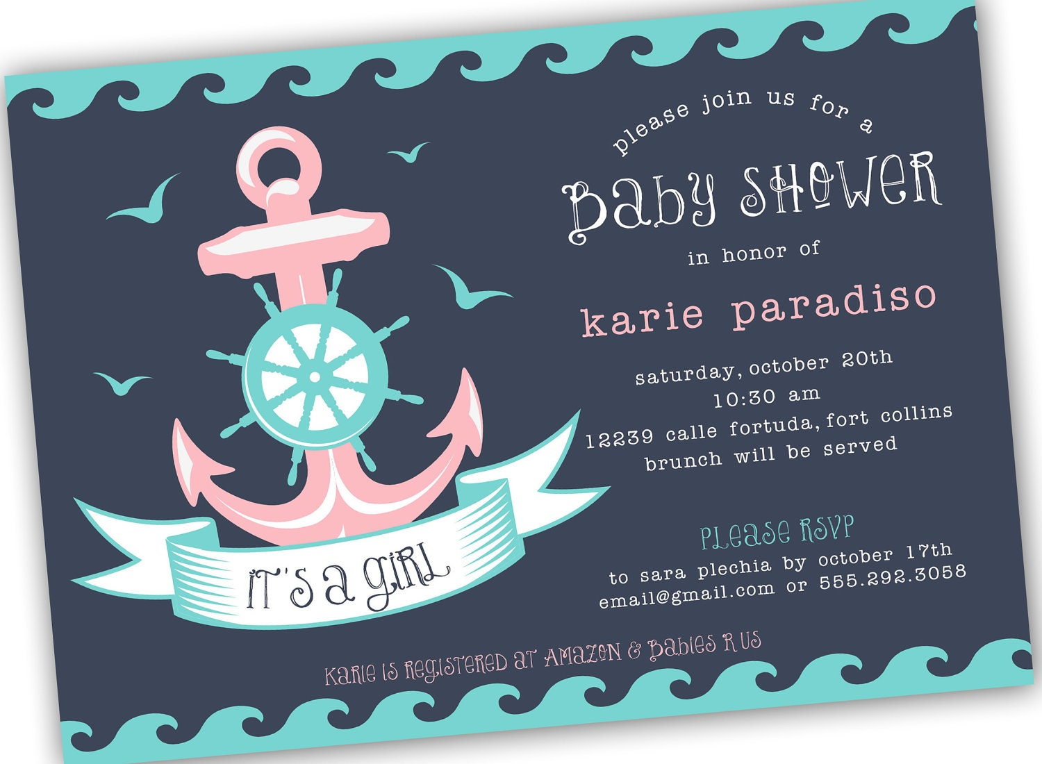 Sailor Baby Shower Invitations for good invitation layout