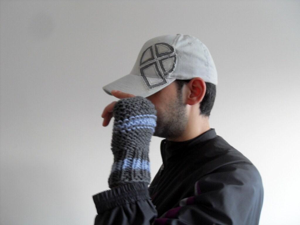 Men Gloves,Gift For Dad,Grey Man Gloves, Hand Knit Fingerless Men Gloves,Adventurer Steampunk Boho Man,Etsy Dude