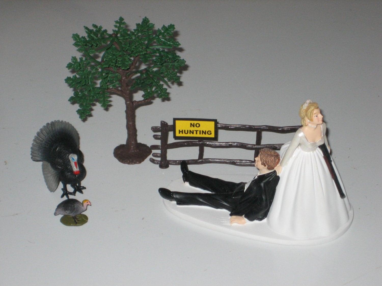 Turkey Hunting Wedding Cake Topper Groom s Cake by finsnhorns