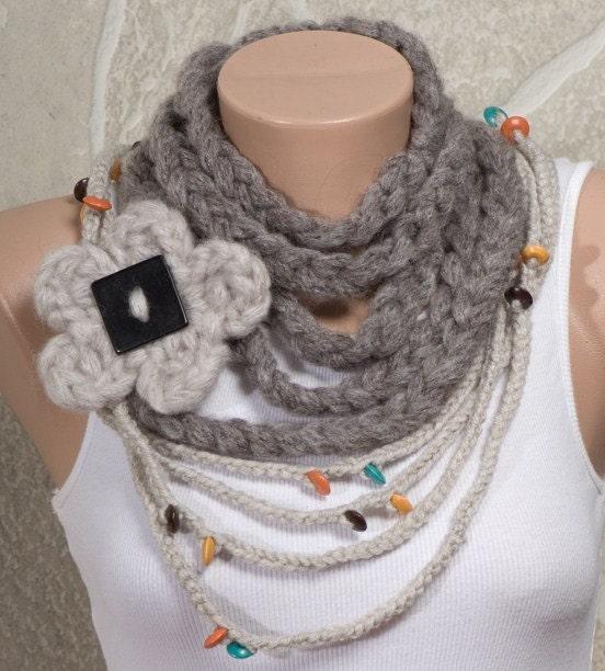 вязаный шарф своими руками видео