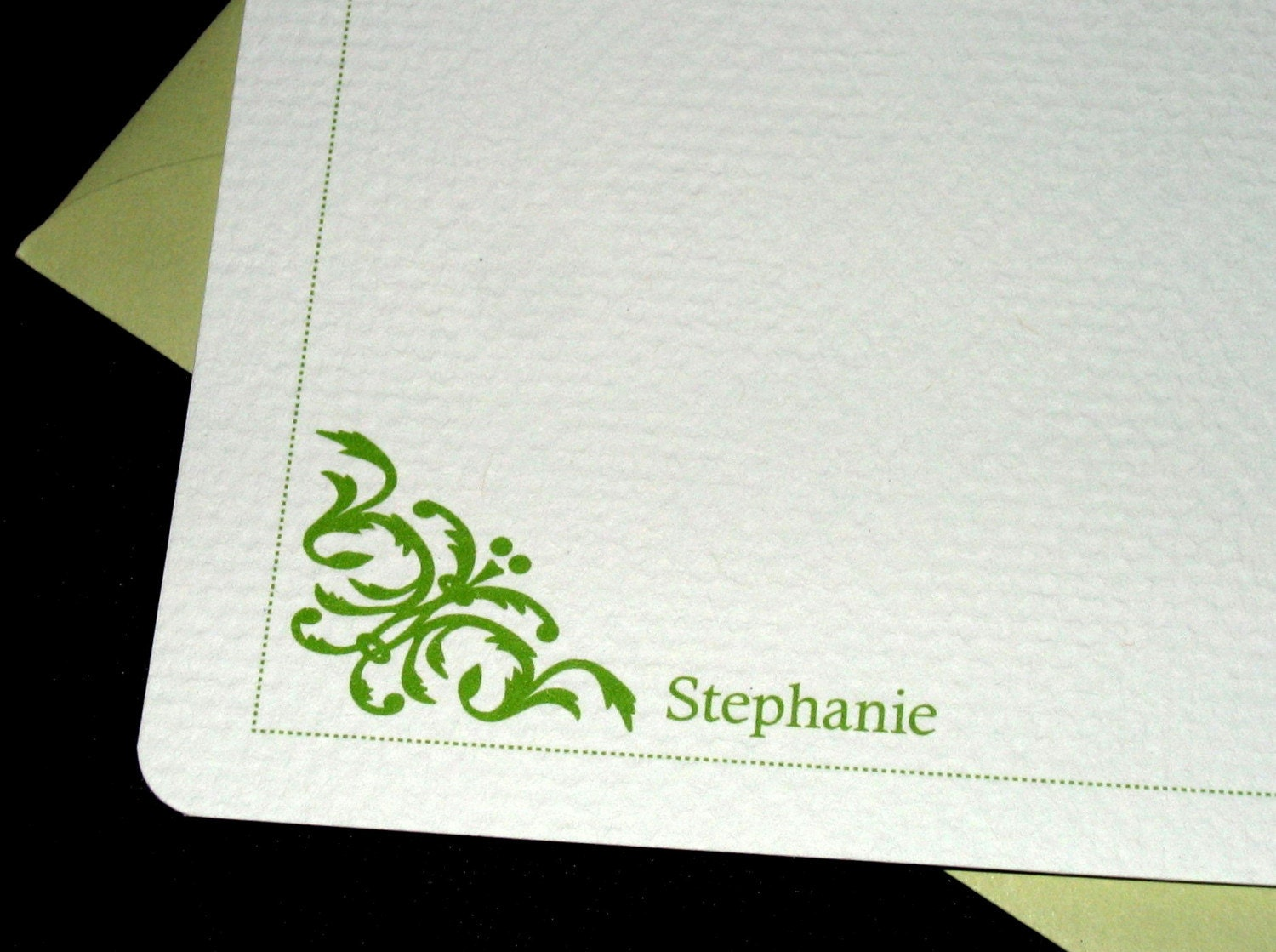 Damask Personalized Notecards-Set of 6 with envelopes