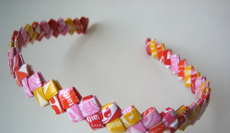 candy wrapper headband
