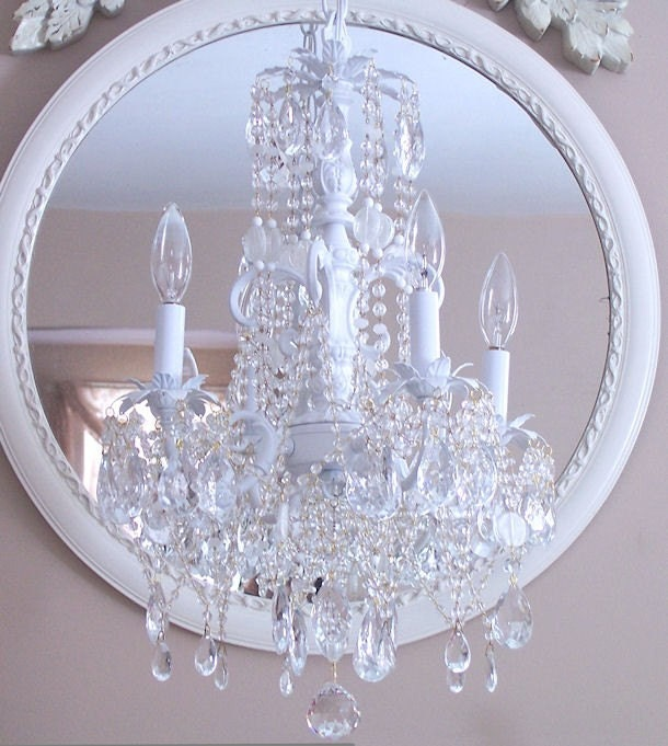 Romantic Cottage Crystal Chandelier
