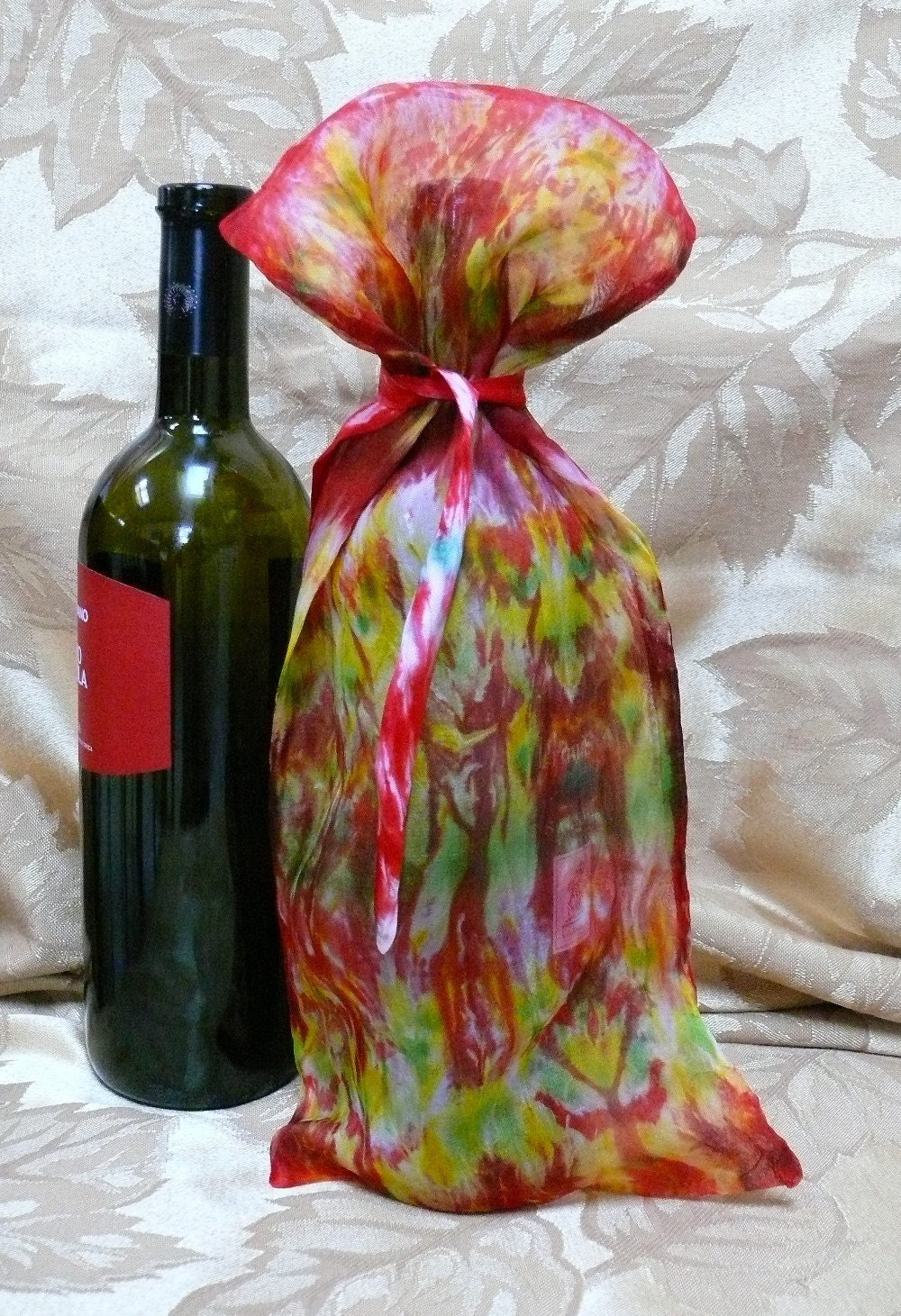 Hand-Dyed Bottle Gift Bag