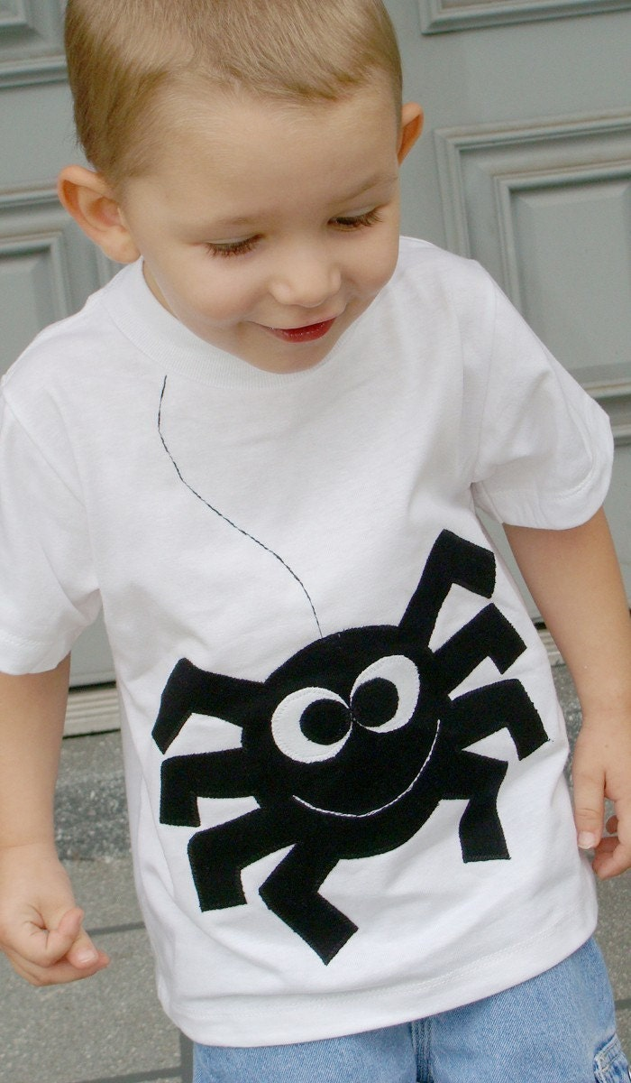 Sammy Spider Boys Custom Applique Tshirt