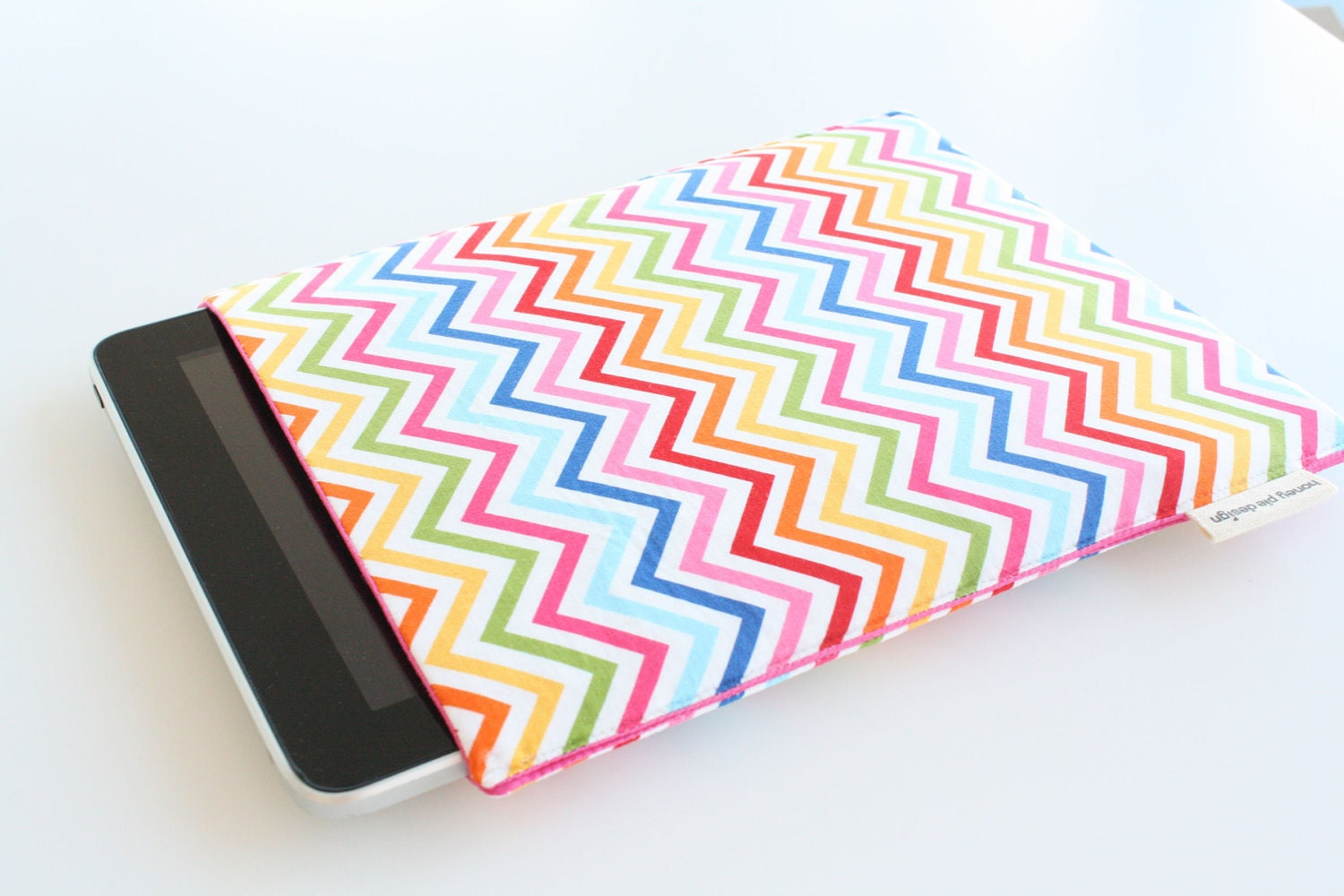 Chevron Rainbow Map iPad Case Cover Sleeve
