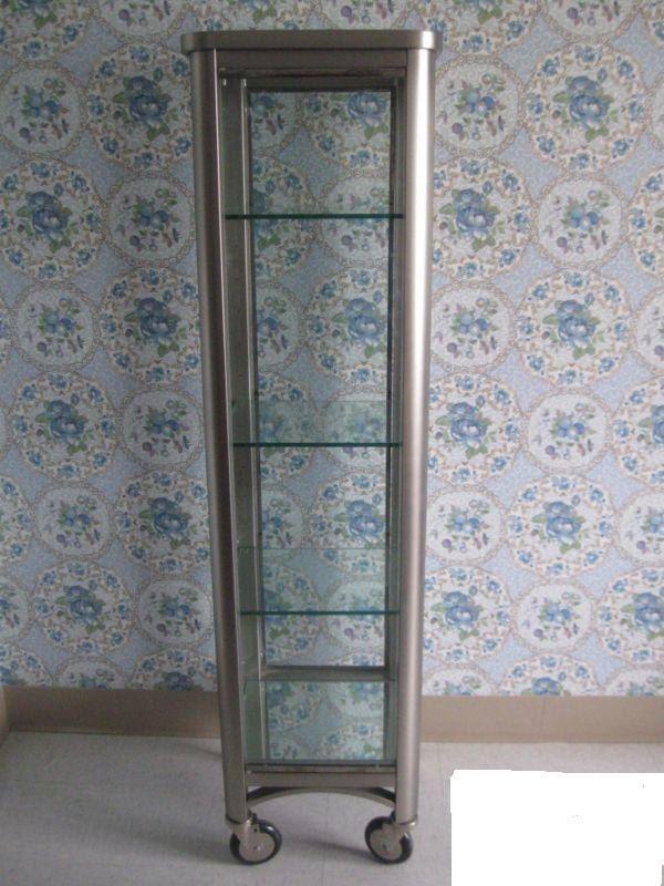 Vintage ethan allen radius curio cabinet by vintagechicfurniture