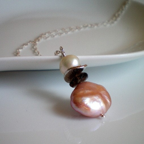 Pink Blush - Freshwater Pearl Handmade Necklace