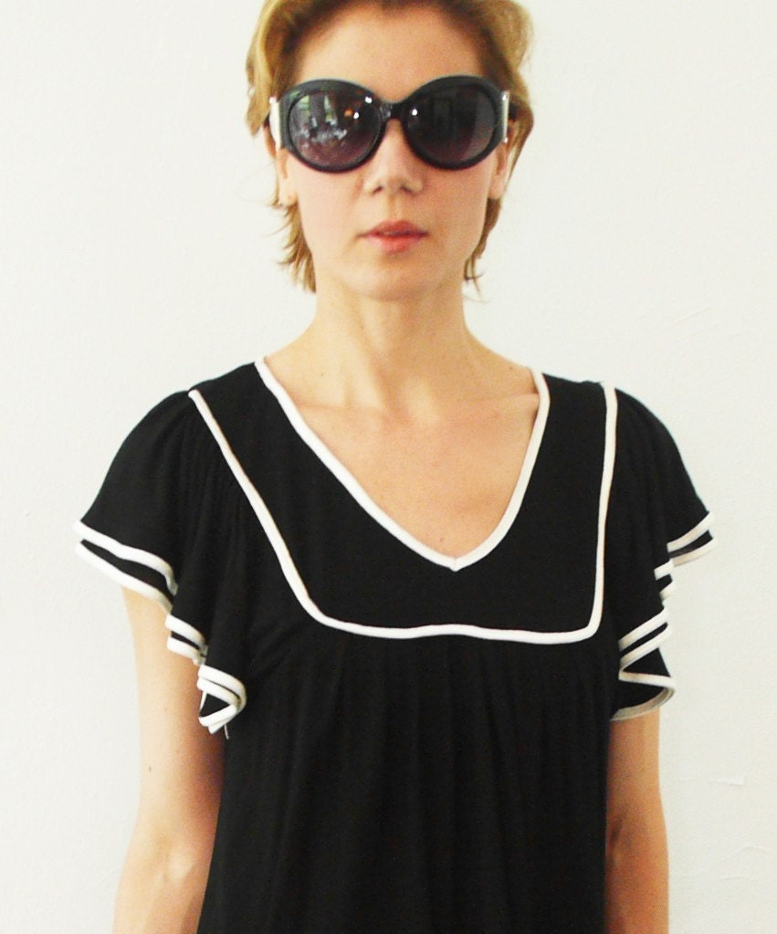 esoneofone midnight jersey blouse