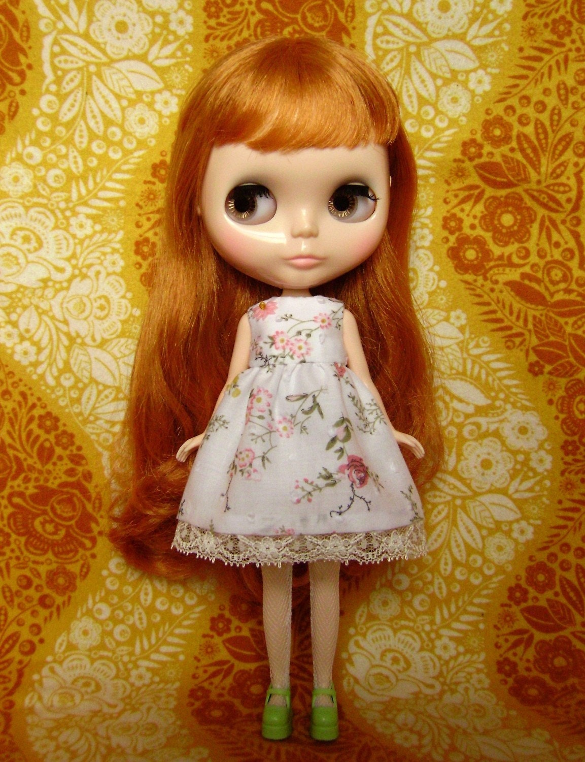 Daisychain Babydoll Dress and Bloomers set for Blythe