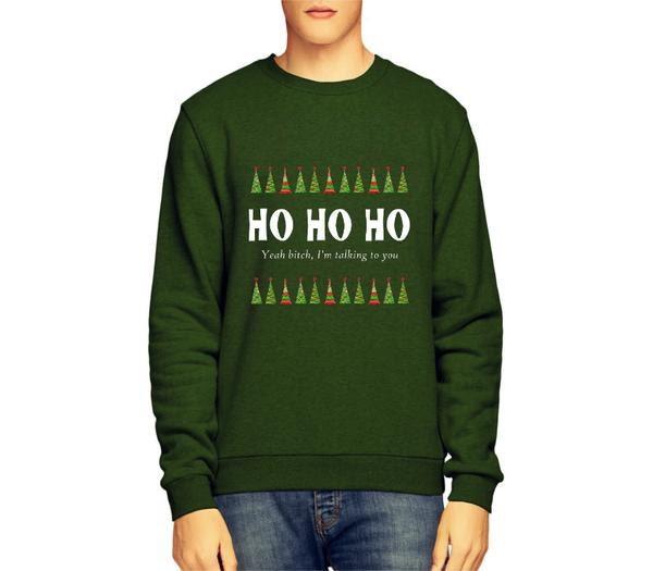 Ho Ho Ho Bitch Offensive Christmas Jumper Funny Christmas Jumper Comedy Christmas Jumper