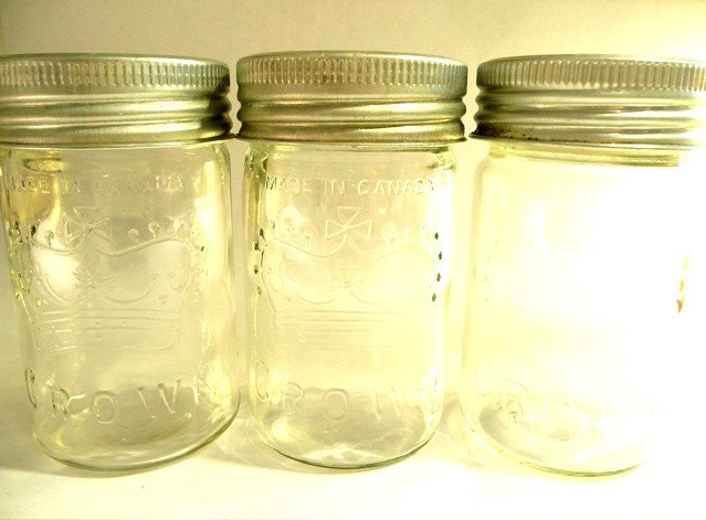 Three Crown Mason Jars/1948 1953 1956