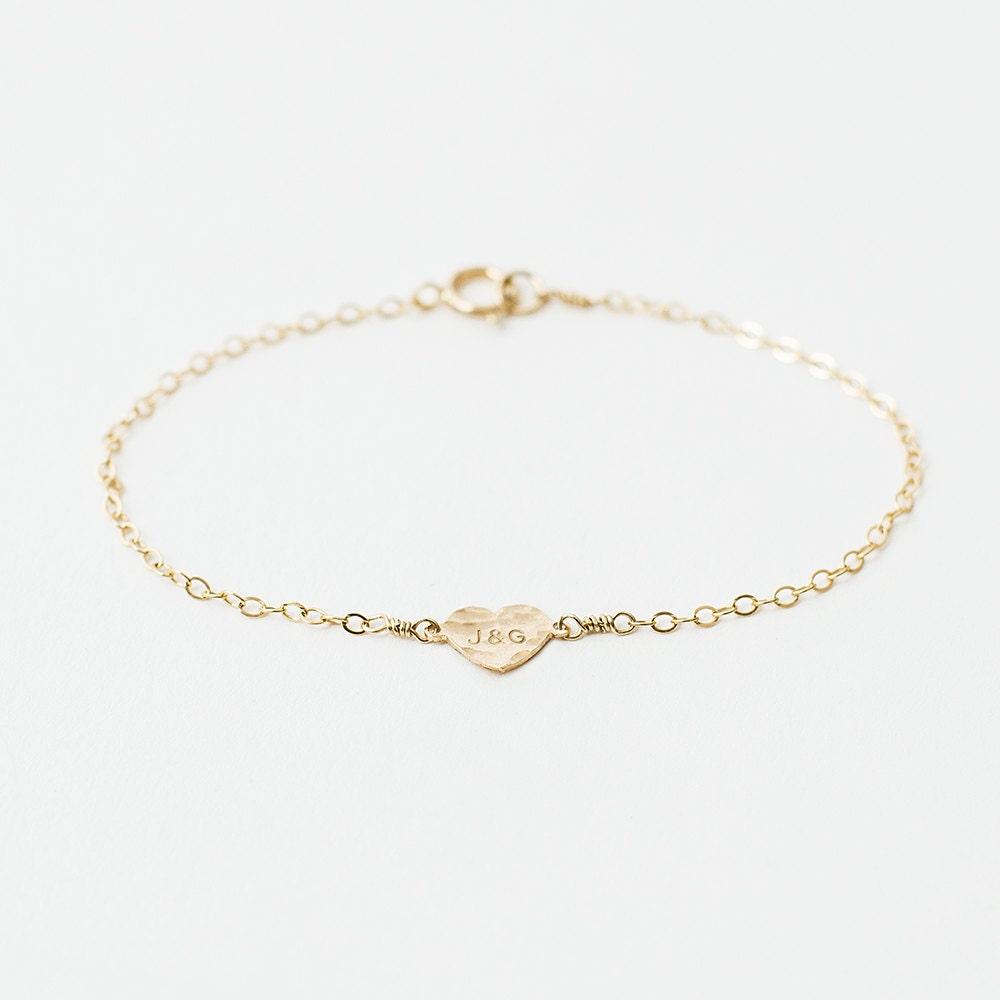 Chloe  14k gold heart bracelet  personalised heart bracelet  initial bracelet  love bracelet  silver heart  gold letter bracelet