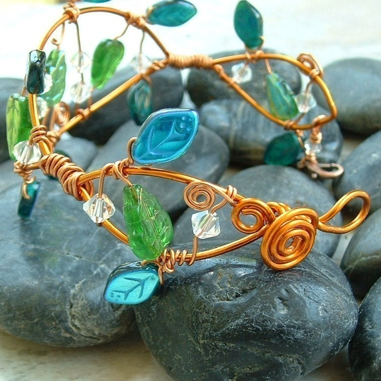 Handmade Jewelry on Etsy - Elven Forest Fairy Vine Bracelet or Arm Cuff by Thyme2dream
