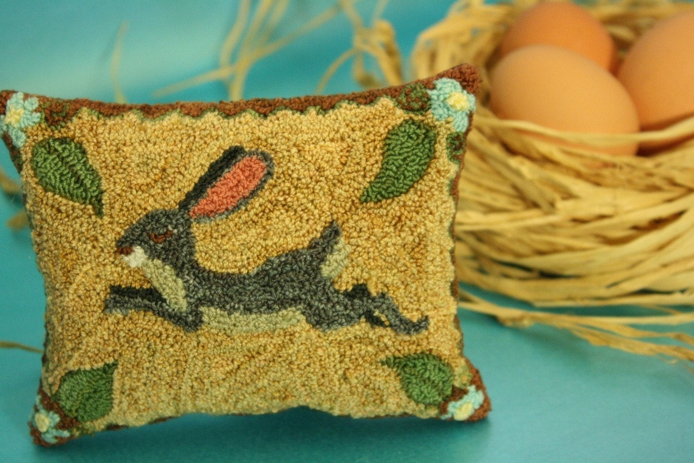 Primitive Folk Art Rabbit Sachet - Lavender Sachet