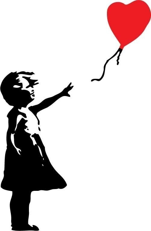 Banksy Inspired - Balloon Girl -SMALL- Interior Wall Vinyl Decal, Graphic, Sticker, Art