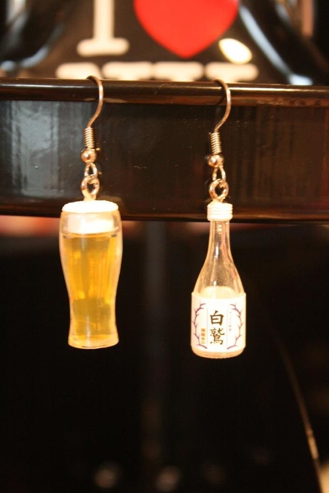 Sake or Beer earrings