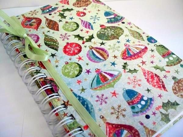 SALE - Festive - Large Handbound Journal / Sketchbook