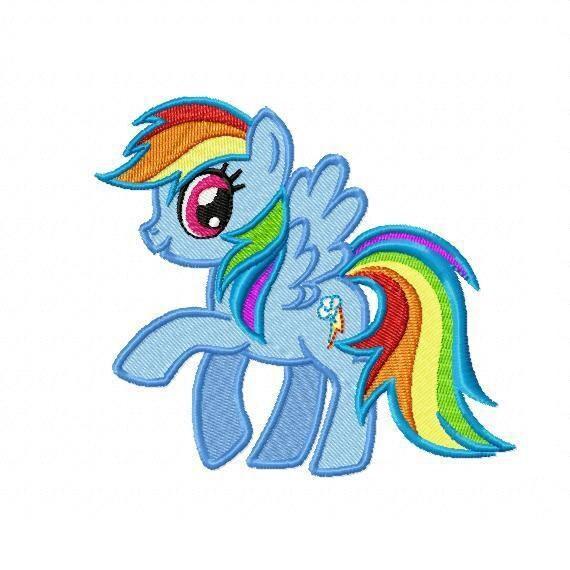 My little pony applique design