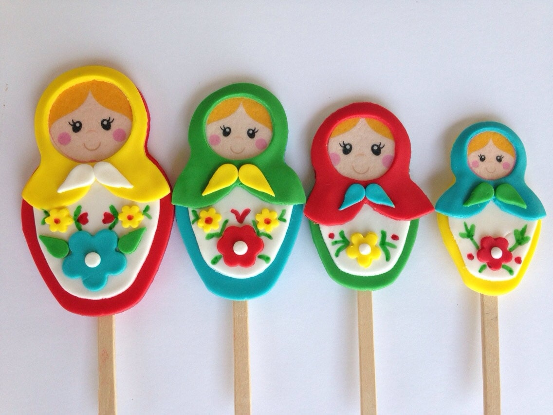 Matryoshka Doll Fondant Cake Toppers - Clementinescupcakes