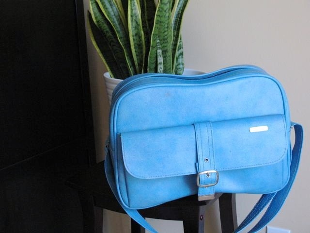 Vintage Samsonite Travel Bag in Blue