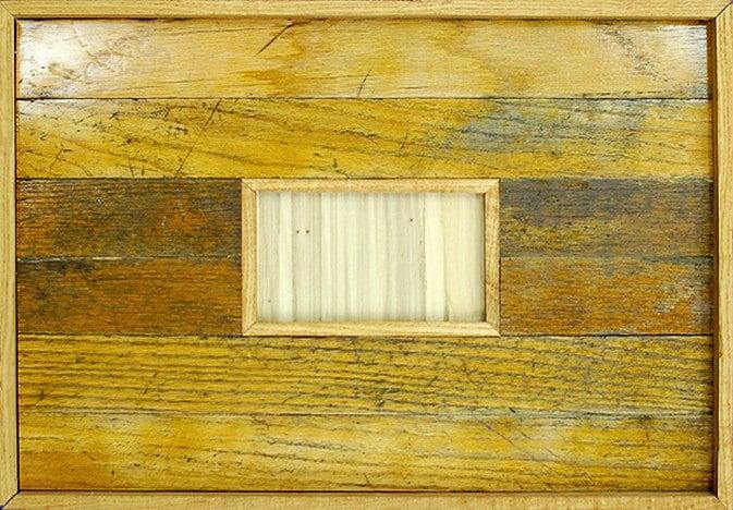 Golden Hardwood Floor Frame