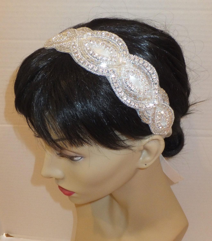 Bridal Headpiece, JENELLE, Crystal Headpiece, Wedding Headpiece, Bridal Headband - BellaCescaBoutique