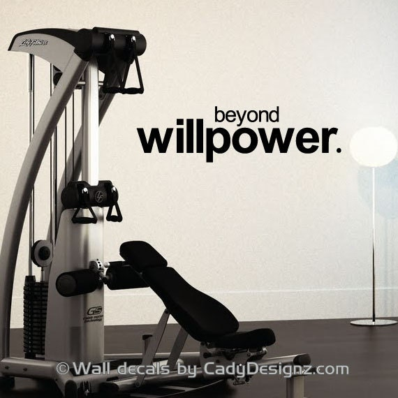 Items similar to workout room vinyl wall decal