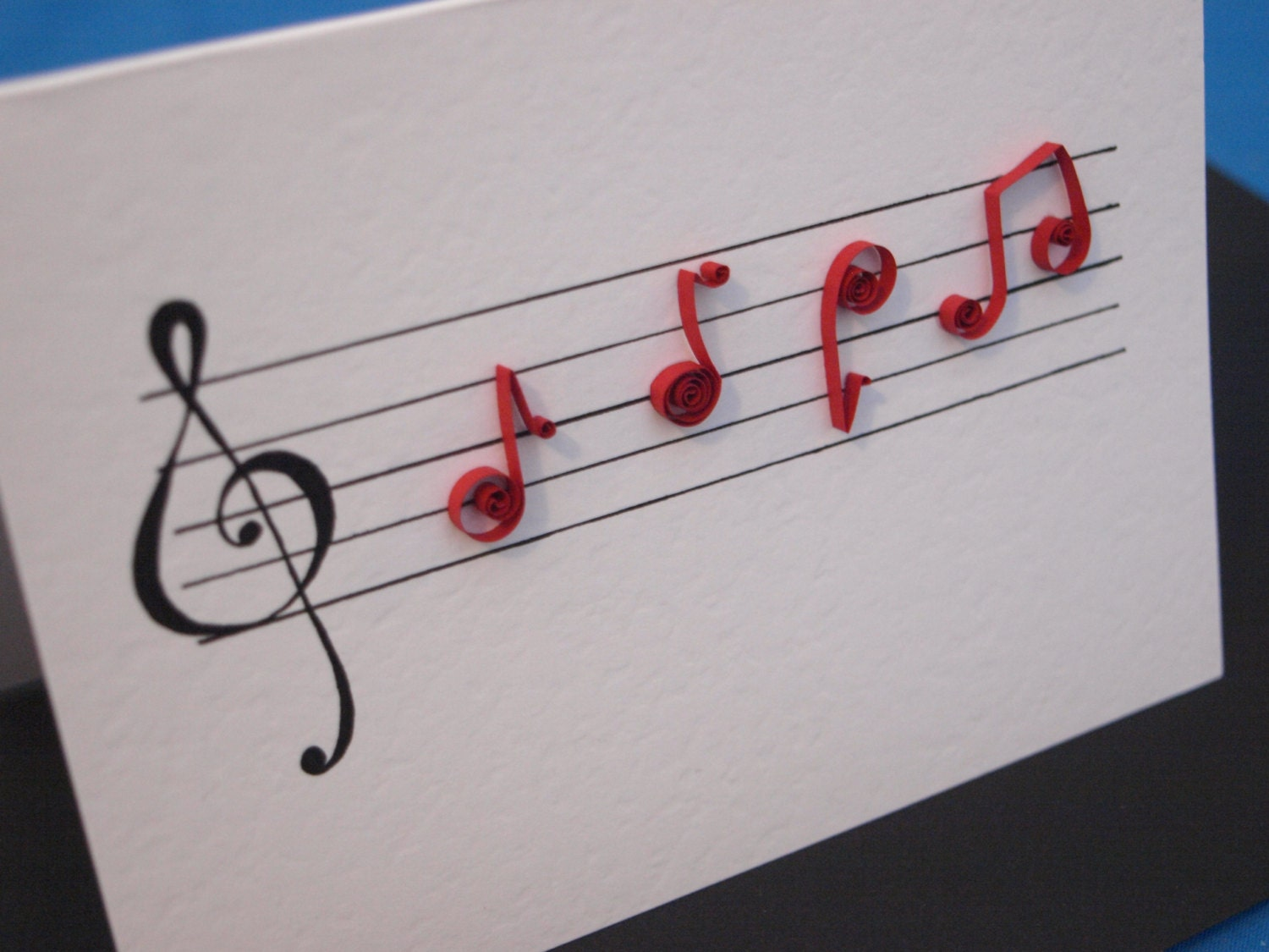 items similar to quilled music notes card on etsy