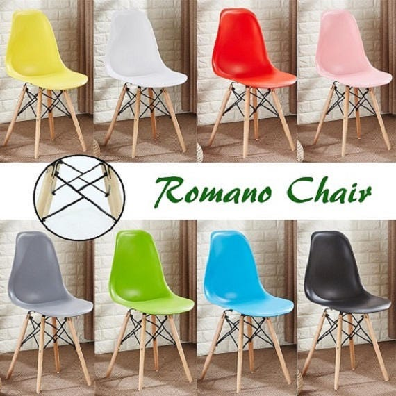Romano EAMES DSW Style Chair design  chaise DSW design scandinave Dining Chair or Office Chair