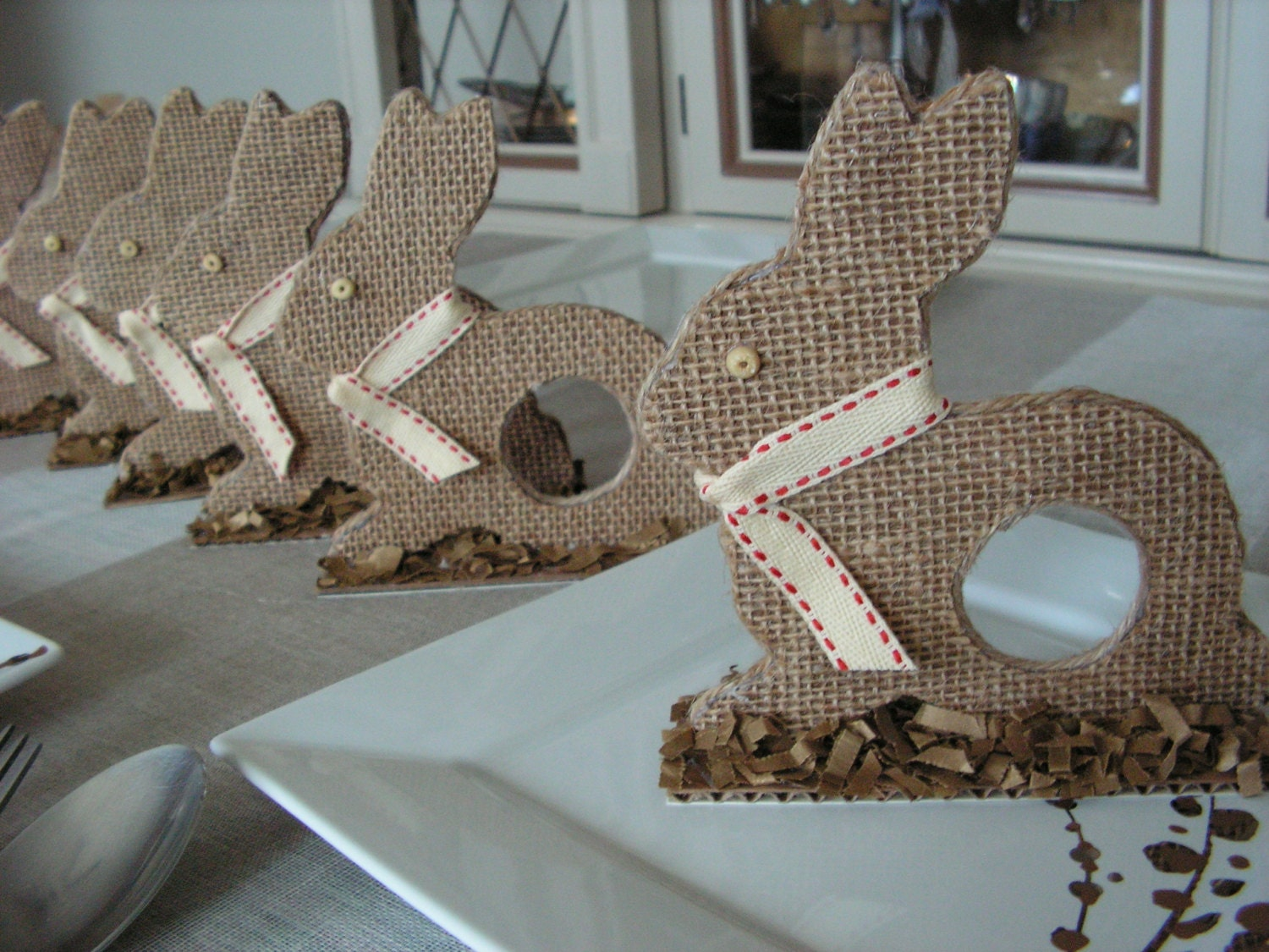 Easter Bunny , napkin  holders- set of 6.
