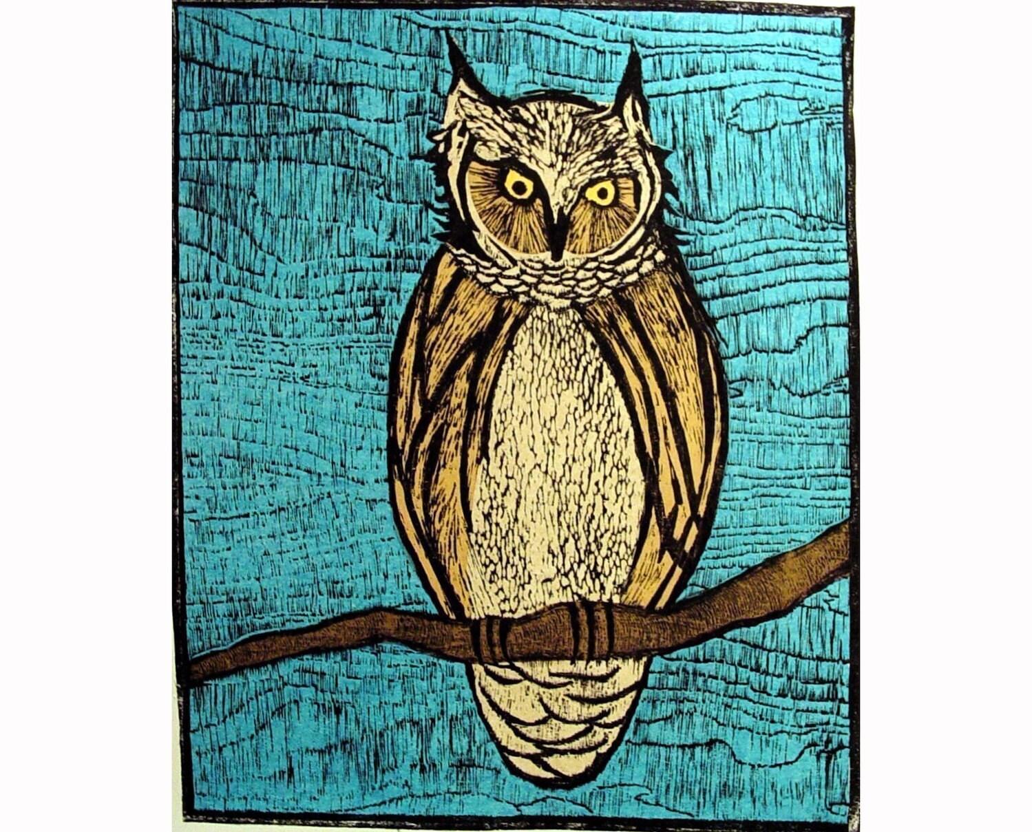 Owl (original woodcut)