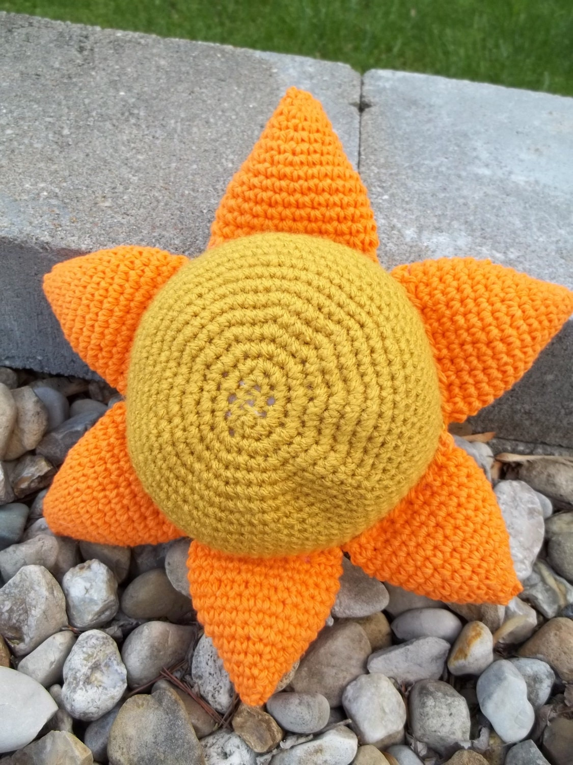OOAK Crocheted Plush Sunshine - sunshineknitandsew