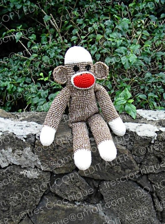 Custom made to order Sock Monkey Dolls - Great Photo Prop