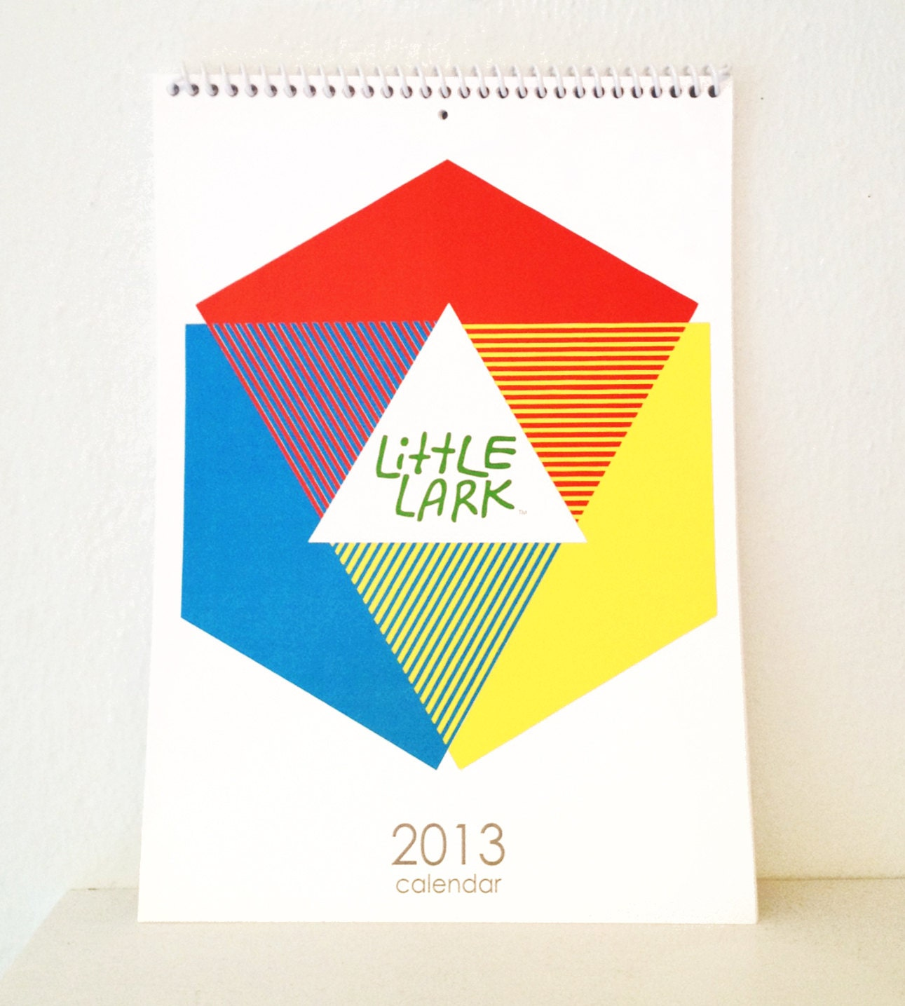 Little Lark 2013 wall desk Calendar, digitally printed, full color, original designs, perfect holiday gift for nature lover. - alittlelark