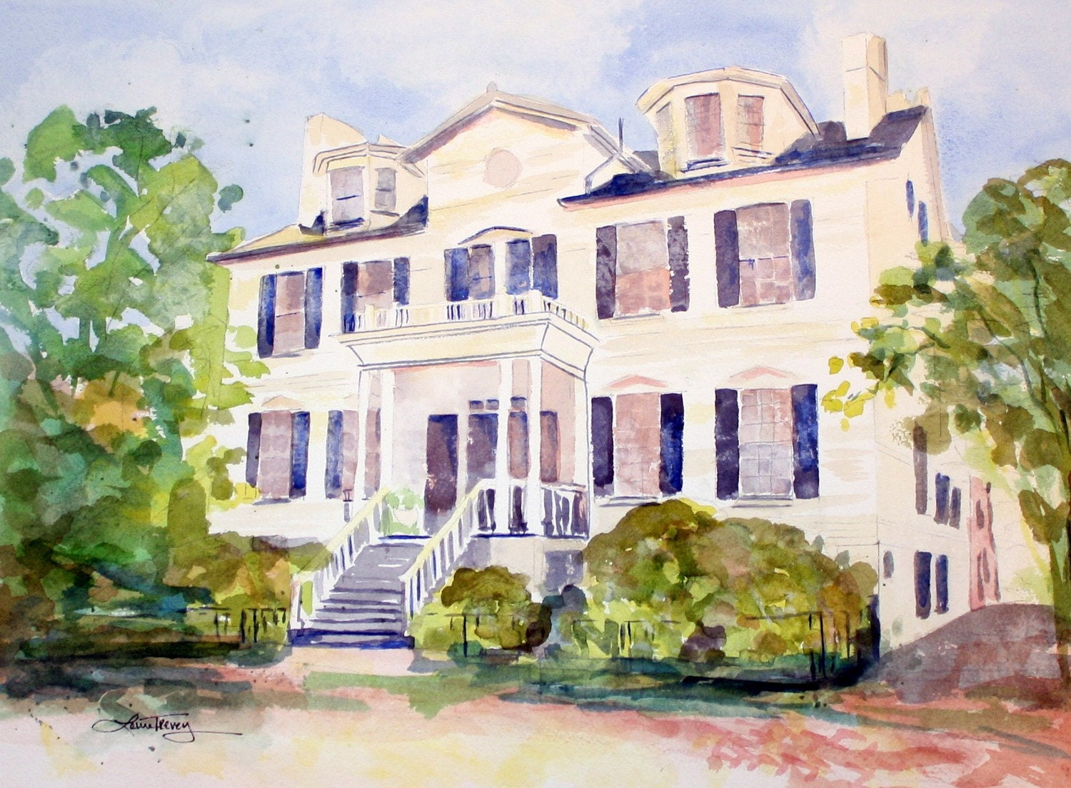 Custom Painting of Your Home - Watercolor